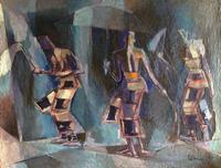 dancing senegalese figures