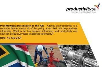 Prof Mdwaba presentation to the IOE