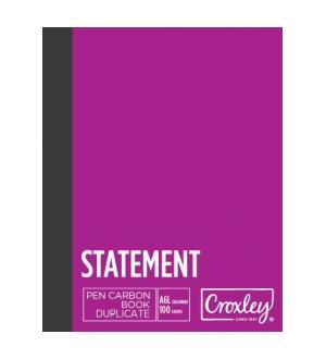 CROXLEY A5 DUPLICATE STATEMENT CARBON BOOK