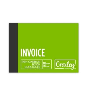CROXLEY A6L  DUPLICATE INVOICE CARBON BOOK