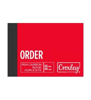 CROXLEY A6L DUPLICATE ORDER CARBON BOOK