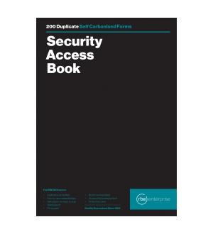RBE A4 SECURITY ACCESS BOOK (200)