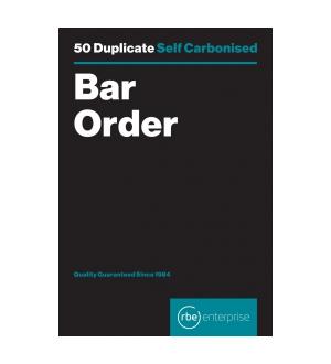 RBE BAR ORDER DUPLICATE PAD 50 SETS