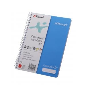REXEL A5 COLOURHIDE NOTEBOOK 200 PG
