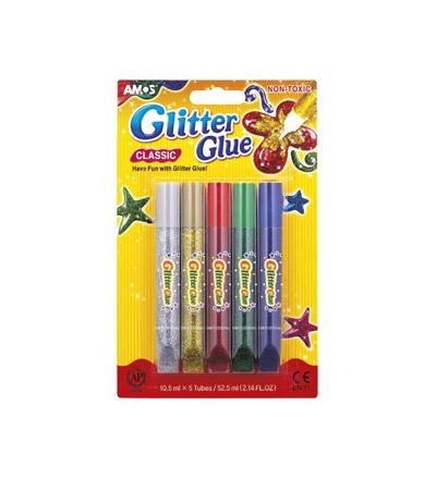 GLITTER GLUE AMOS CLASSIC 5 PIECE 5X10,5ML