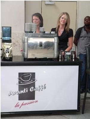 The Avanti Caffé stand<br />Wednesday, November 11th, 2009