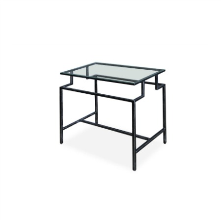 Cosmopolitan Side Table With A 6mm Clear Toughened Glass Top