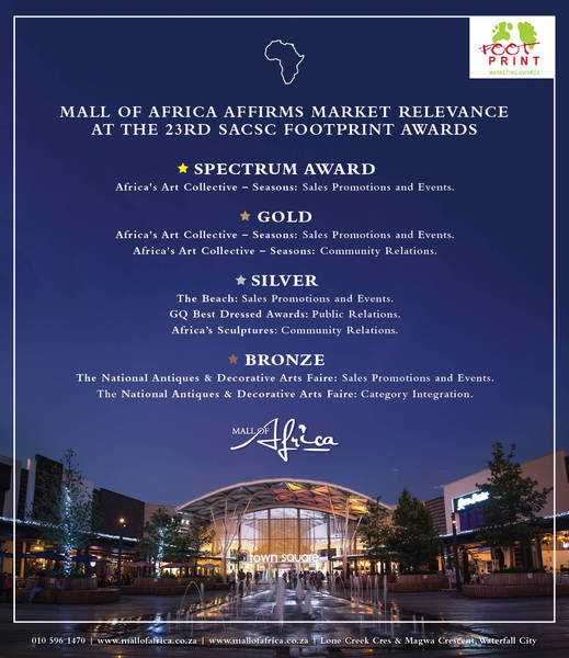 Mall Of Africa affirms market relevance at the 23rd SACSC footprint awards
