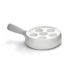 snail dish - just white