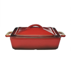 square casserole - two tone red