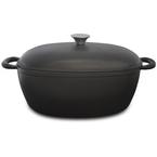 matte black oval casserole   33cm