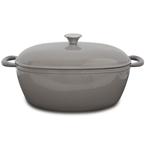 grey oval casserole   33cm