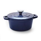 blue round casserole | 21.5cm