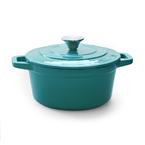 turquoise round casserole | 21.5cm