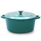 turquoise round casserole | 28cm