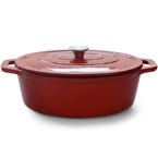 red oval casserole | 33.5cm