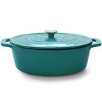 turquoise oval casserole | 33.5cm