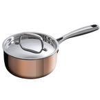 16cm triply copper saucepan
