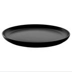38.5cm matte black round platter