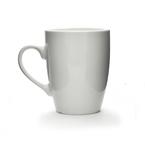 white porcelain bullet mug