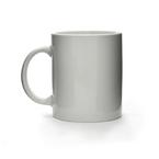 white porcelain can mug