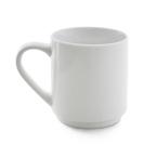 white porcelain stackable mug