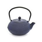 blue cast iron tea infuser (tetsubin) - 600ml