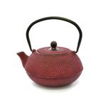 red cast iron tea infuser (tetsubin) - 600ml